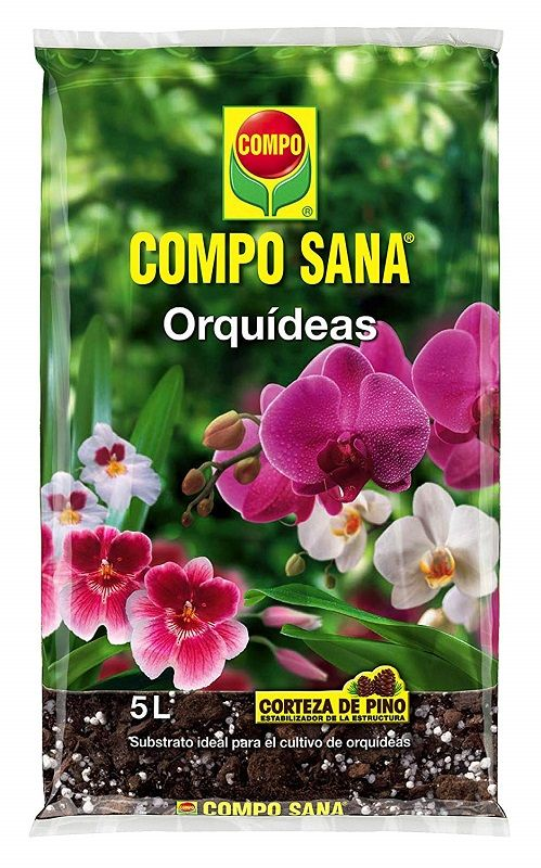 sustrato para orquídeas compo sana