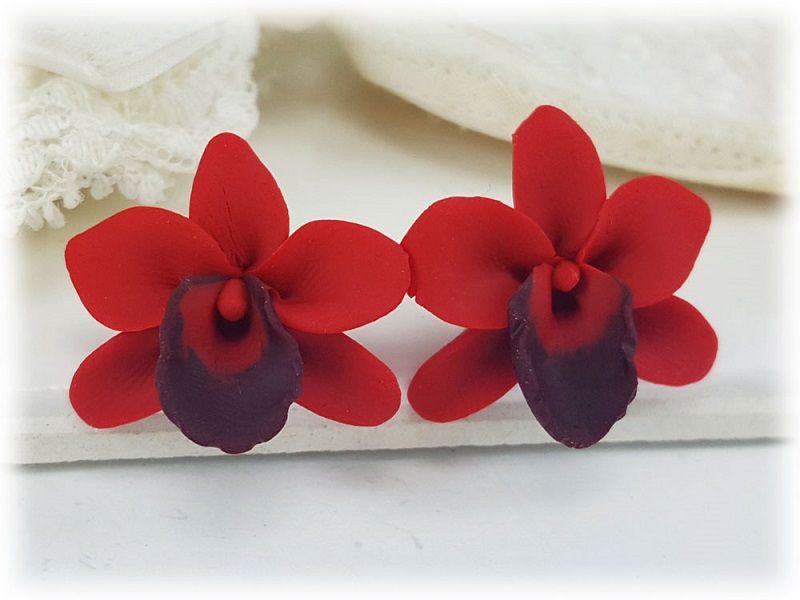 Dos orquídeas rojas